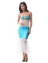 Costumes Mermaid Tail Halloween / Noël / Carnaval / Fête d'Octobre Blanc / Bleu Vintage Térylène Robe