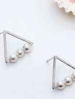 Earring Geometric Jewelry Women Fashion Daily / Casual Silver / Sterling Silver 1 pair Gold / Silver