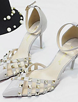 Women's Sandals Fall Sandals Leatherette Outdoor Stiletto Heel Rivet Black / Pink / Red / Gray Others