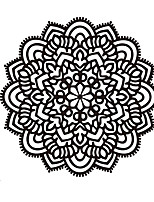 Mandala Flower Namaste Vinyl Sticker Art Decor Yoga Mandala Indian Pattern Wall Decals For Religion