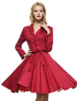 Maggie Tang Women's 50s VTG Retro Rockabilly Hepburn Pinup Cos Party Swing Dress 585