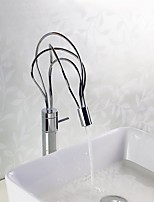Art Deco/Retro / Modern Pot Filler Vessel Widespread with  Ceramic Valve Single Handle One Hole for  Chrome , Kitchen