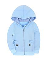 Costume & Blazer Fille de Couleur Pleine Décontracté / Quotidien Coton Hiver Bleu / Vert / Rose / Jaune