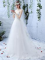 A-라인 웨딩 드레스 코트 트레인 스윗하트 레이스 / 튤 와 레이스