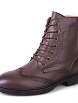 Черный / Синий / Коричневый / Белый / Светло-коричневый-Унисекс-На каждый день-Кожа-На плоской подошве-Удобная обувь-Ботинки