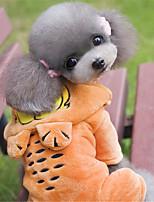 Hunde Kapuzenshirts Orange Hundekleidung Winter / Frühling/Herbst einfarbig / Tier Lässig/Alltäglich Other
