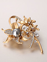 European and American fashion zircon Pearl Brooch Series 029