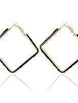 1pair/White/pink/Blue/Black/White Hoop Earrings forWomen