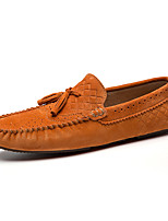 Men's Loafers & Slip-Ons Spring/Summer/Fall/Winter Moccasin Nappa Leather Office & Career Casual Brown/Green/Coffee