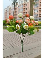 Polyester Hochzeits-Dekorationen-1piece / Set Künstliche Blumen Neujahr / Hochzeit rustikales Theme Rot / Rosa / Gelb / Fuchsie / Lila