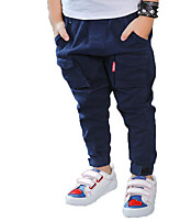Boy's Casual/Daily Solid Pants,Cotton Spring / Fall Blue / Yellow / Gray