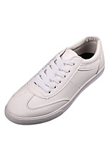 Men's Sneakers Spring / Fall Round Toe PU Casual Flat Heel Others Black / White Others