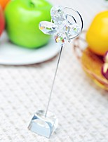 Bridesmaids / Bachelorette Wedding décor Name Card Place holder / Rustic / Clear Crystal / Garden Theme