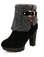 Women's Boots Spring / Fall / Winter Platform / Fashion Boots Leatherette / Casual Chunky Heel OthersBlack / Brown