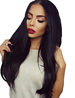 Brazilian Light Yaki U Part Lace Front Human Hair Wigs Natural Color Lace Front Wigs For Black Women