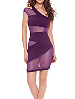 Women Ultra Sexy Nightwear,Sexy Patchwork-Thin Polyester Purple / Black Women's