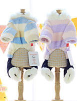 Dog Hoodie Blue / Purple Winter / Spring/Fall Color Block Casual/Daily Dog Clothes / Dog Clothing-Other
