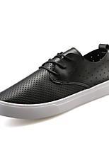 Men's Flats Spring / Fall Flats Patent Leather Casual Flat Heel Others Black / White Others