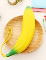 Silicone Banana Design Pen Bag