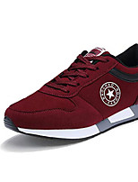 Herren-Sneaker-Lässig-Stoff-Flacher Absatz-Komfort-Schwarz / Blau / Rot