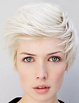 28cm Straight White Short Wigs for Women 2016 New Fashion Heat Resistant Synthetic Wigs