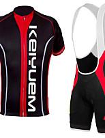KEIYUEM®Summer Cycling Jersey Short Sleeves + BIB Shorts Ropa Ciclismo Cycling Clothing Suits #K129