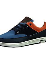 Herren-Sneaker-Lässig-PU-Flacher Absatz-Stile / Rundeschuh-Blau / Braun / Orange