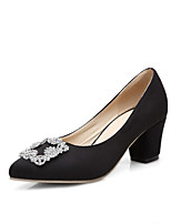 Women's Pull-on Pointed Closed Toe Kitten-Heels Imitated Suede Pumps-Shoes