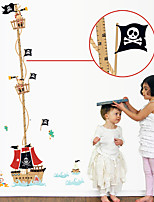 Cartoon Pirate Height Stickers Environmental Removable Children's Bedroom Wall Stickers Wall Decals
