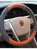 Silver Embroidery Steering Wheel Cover, Car Leather Steering Wheel Sets, 54-2C\1619, Diameter 38CM