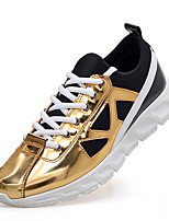 Men's Sneakers Spring / Fall Pointed Toe / Flats Patent Leather Casual Flat Heel Others / Gray / Black and Gold Others