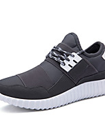 Men's Sneakers Spring / Fall Round Toe / Styles Fabric Casual Flat Heel Others Black / Blue / Gray Sneaker