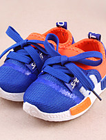 Boy's / Girl's Sneakers Spring / Fall Comfort / Round Toe Tulle Outdoor / Athletic Flat Heel Lace-up Blue / Fuchsia