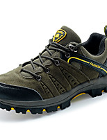 Herren-Sneaker-Outddor-PU-Flacher Absatz-Rundeschuh-Grün / Grau / Khaki