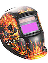 Darkening Welding Protective Mask / Welding Protective Mask (Sold Skeleton Flame, Solar , Lithium Battery-Powered)
