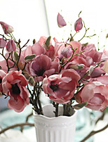 1PC Household Artificial Flowers Sitting Room Adornment  Flowers  Polyester  Mangnolia  Artificial Flowers