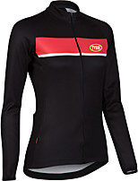 Sports Cycling Tops Women's Bike Front Zipper  / Ultra Light Fabric / Compression Long SleeveLYCRA®