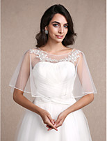 Women's Wrap Shrugs Sleeveless Lace / Tulle Ivory Wedding / Party/Evening / Casual Scoop 30cm Lace Pullover