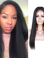 Light Yaki Lace Front Human Hair Wigs With Baby Hair Free Part Lace Front Wigs For Women