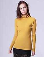 Mara Carol® Damen Rundhalsausschnitt Lange Ärmel Pullover & Cardigan Schwarz / Rot / Gelb-6519506