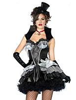 Costumes Ange et Diable / Zombie / Vampire Halloween / Noël / Carnaval / Nouvel an Blanc / Noir / Gris Vintage TérylèneRobe / Gants /