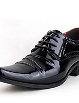 Men's Oxfords Spring Summer Fall Winter Formal Shoes Patent Leather Outdoor Office & Career Party & Evening Casual Black White