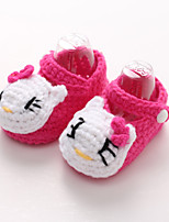 Boy's / Girl's Flats Spring / Fall Round Toe / First Walkers Polyester Casual Others Blue / Yellow / Green / Purple / Red / Fuchsia