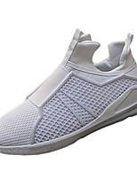 Hombre-Tacón Plano-Confort-Zapatillas de deporte-Casual-Tul-Negro / Rojo / Blanco