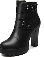 Women's Boots Spring / Fall / Winter Heels Synthetic Office & Career / Casual Chunky Heel Black/Red Snow Boots