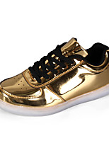 Men's Sneakers Spring / Fall Styles / Round Toe PU Casual Flat Heel Others Silver / Gold Walking