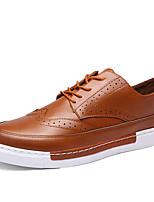 Черный / Желтый / Серый-Мужской-Для прогулок / На каждый день / Для занятий спортом-Микроволокно-На плоской подошве-Удобная обувь-Кеды