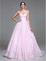 Lanting Bride A-Linie Hochzeitskleid Hof Schleppe Herzausschnitt Organza mit