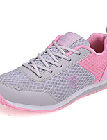 Women's Sneakers Spring / Fall Comfort Tulle Athletic Flat Heel Split Joint / Lace-up Blue / Yellow / Pink Sneaker