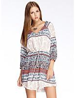 Heart Soul® Women's Round Neck 3/4 Length Sleeve Knee-length Dress-11AA14589